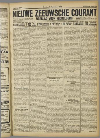 Nieuwe Zeeuwsche Courant 1922-11-07
