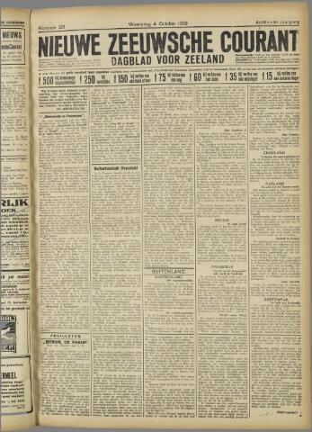 Nieuwe Zeeuwsche Courant 1922-10-04