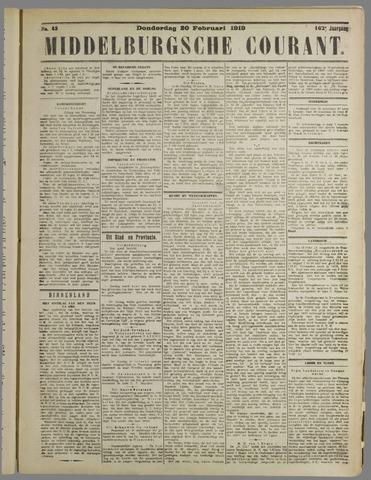 Middelburgsche Courant 1919-02-20