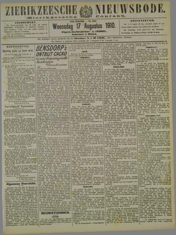 Zierikzeesche Nieuwsbode 1910-08-17