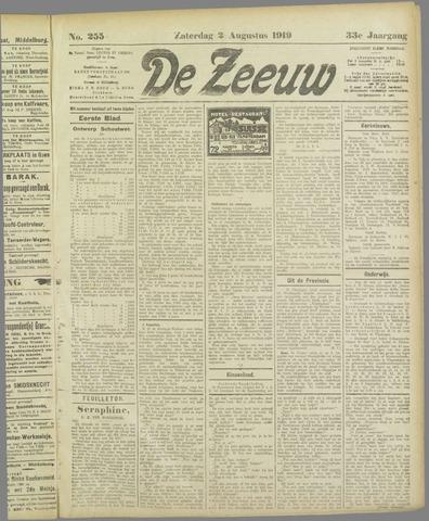 De Zeeuw. Christelijk-historisch nieuwsblad voor Zeeland 1919-08-02