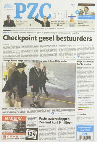 Provinciale Zeeuwse Courant 2010-02-03