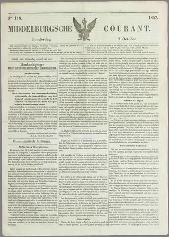 Middelburgsche Courant 1857-10-01