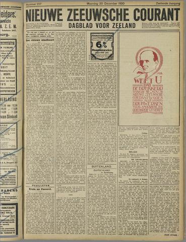 Nieuwe Zeeuwsche Courant 1920-12-20