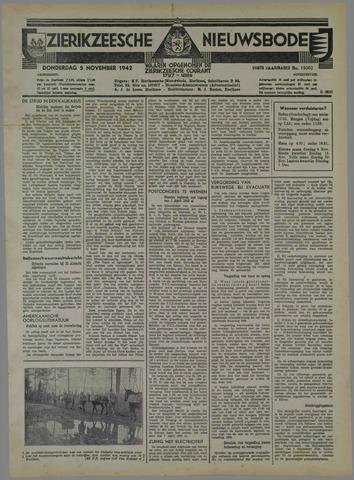 Zierikzeesche Nieuwsbode 1942-11-05