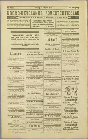 Noord-Bevelands Nieuws- en advertentieblad 1932