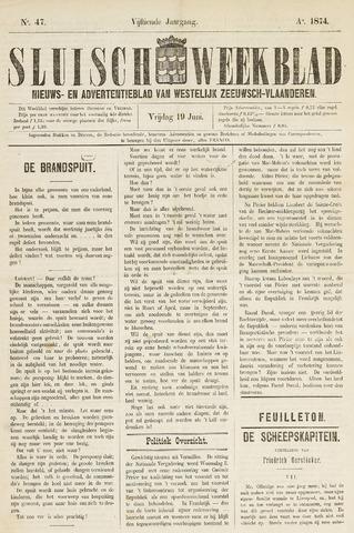Sluisch Weekblad. Nieuws- en advertentieblad voor Westelijk Zeeuwsch-Vlaanderen 1874-06-19
