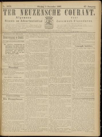 Ter Neuzensche Courant. Algemeen Nieuws- en Advertentieblad voor Zeeuwsch-Vlaanderen / Neuzensche Courant ... (idem) / (Algemeen) nieuws en advertentieblad voor Zeeuwsch-Vlaanderen 1907-12-03