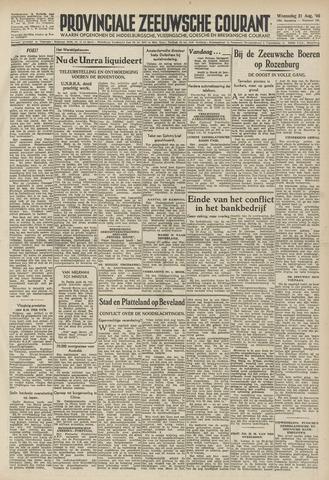 Provinciale Zeeuwse Courant 1946-08-21
