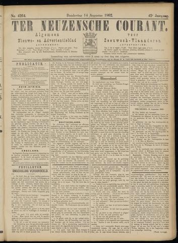 Ter Neuzensche Courant. Algemeen Nieuws- en Advertentieblad voor Zeeuwsch-Vlaanderen / Neuzensche Courant ... (idem) / (Algemeen) nieuws en advertentieblad voor Zeeuwsch-Vlaanderen 1902-08-14