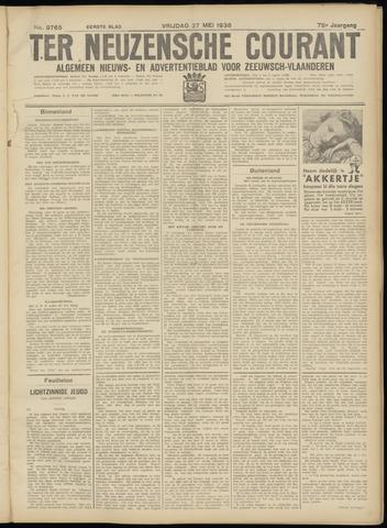 Ter Neuzensche Courant. Algemeen Nieuws- en Advertentieblad voor Zeeuwsch-Vlaanderen / Neuzensche Courant ... (idem) / (Algemeen) nieuws en advertentieblad voor Zeeuwsch-Vlaanderen 1938-05-27