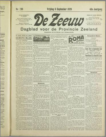 De Zeeuw. Christelijk-historisch nieuwsblad voor Zeeland 1929-09-06