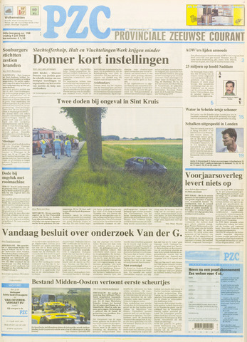 Provinciale Zeeuwse Courant 2003-07-04