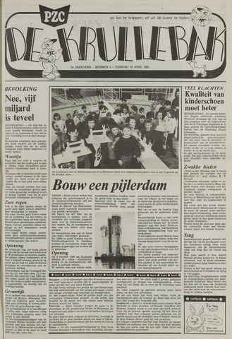 Provinciale Zeeuwse Courant katern Krullenbak (1981-1999) 1985-04-16