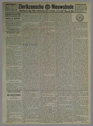 Zierikzeesche Nieuwsbode 1930-08-25