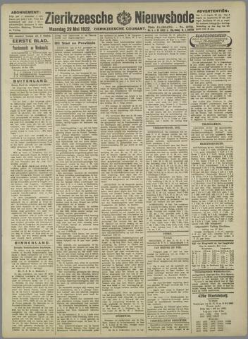 Zierikzeesche Nieuwsbode 1922-05-29