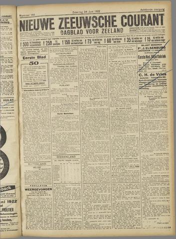 Nieuwe Zeeuwsche Courant 1922-06-24