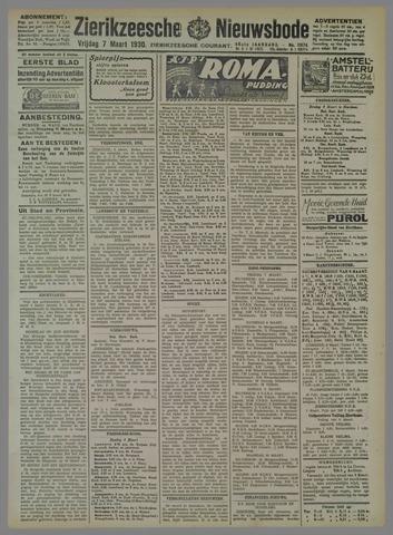 Zierikzeesche Nieuwsbode 1930-03-07