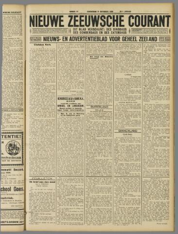 Nieuwe Zeeuwsche Courant 1929-11-21