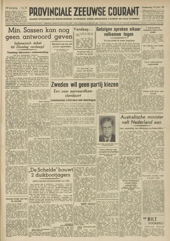Provinciale Zeeuwse Courant 1949-02-10