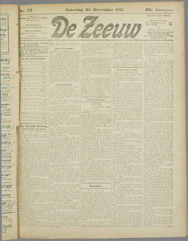 De Zeeuw. Christelijk-historisch nieuwsblad voor Zeeland 1917-12-22