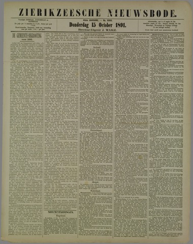 Zierikzeesche Nieuwsbode 1891-10-15