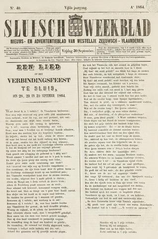 Sluisch Weekblad. Nieuws- en advertentieblad voor Westelijk Zeeuwsch-Vlaanderen 1864-09-30