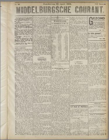 Middelburgsche Courant 1922-04-20