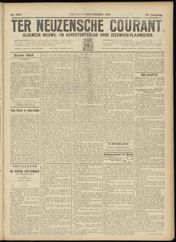Ter Neuzensche Courant. Algemeen Nieuws- en Advertentieblad voor Zeeuwsch-Vlaanderen / Neuzensche Courant ... (idem) / (Algemeen) nieuws en advertentieblad voor Zeeuwsch-Vlaanderen 1932-09-09