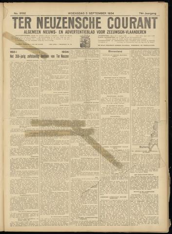 Ter Neuzensche Courant. Algemeen Nieuws- en Advertentieblad voor Zeeuwsch-Vlaanderen / Neuzensche Courant ... (idem) / (Algemeen) nieuws en advertentieblad voor Zeeuwsch-Vlaanderen 1934-09-05