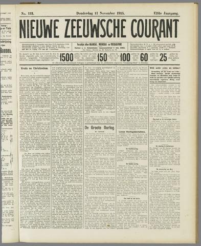 Nieuwe Zeeuwsche Courant 1915-11-11