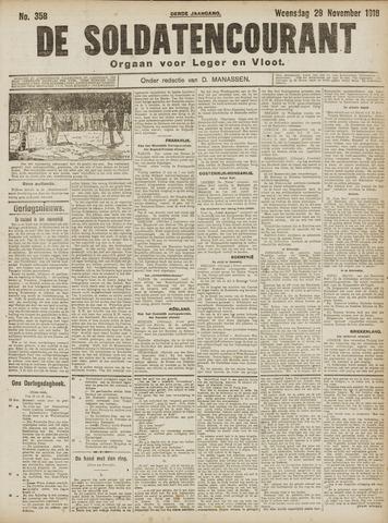 De Soldatencourant. Orgaan voor Leger en Vloot 1916-11-29