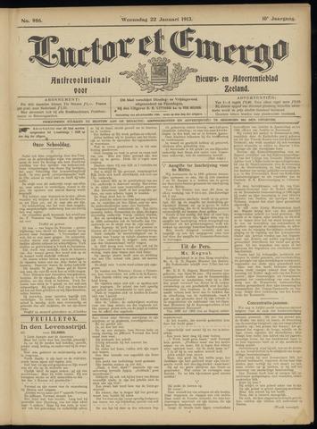 Luctor et Emergo. Antirevolutionair nieuws- en advertentieblad voor Zeeland / Zeeuwsch-Vlaanderen. Orgaan ter verspreiding van de christelijke beginselen in Zeeuwsch-Vlaanderen 1913-01-22