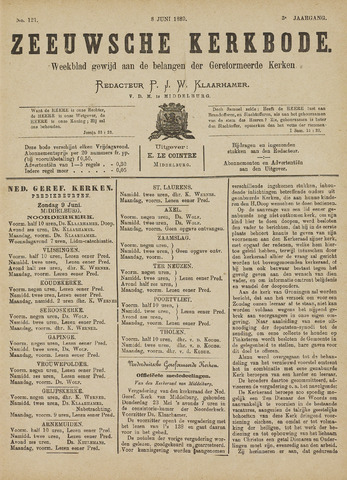 Zeeuwsche kerkbode, weekblad gewijd aan de belangen der gereformeerde kerken/ Zeeuwsch kerkblad 1889-06-08