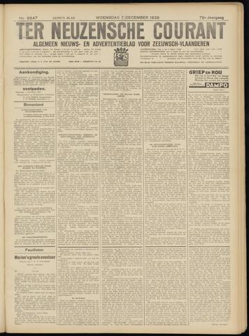 Ter Neuzensche Courant. Algemeen Nieuws- en Advertentieblad voor Zeeuwsch-Vlaanderen / Neuzensche Courant ... (idem) / (Algemeen) nieuws en advertentieblad voor Zeeuwsch-Vlaanderen 1938-12-07