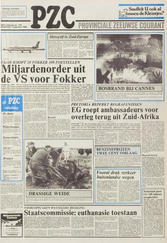 Provinciale Zeeuwse Courant 1985-08-01