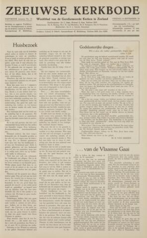 Zeeuwsche kerkbode, weekblad gewijd aan de belangen der gereformeerde kerken/ Zeeuwsch kerkblad 1959-09-18
