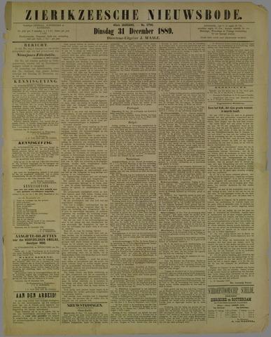Zierikzeesche Nieuwsbode 1889-12-31