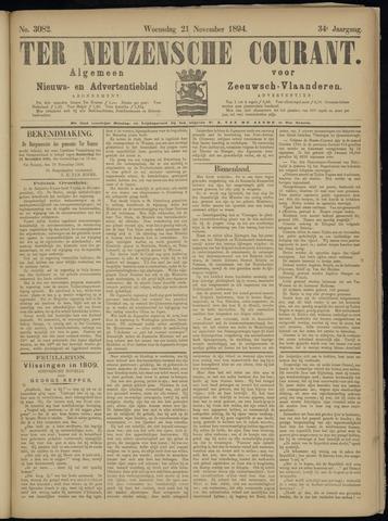 Ter Neuzensche Courant. Algemeen Nieuws- en Advertentieblad voor Zeeuwsch-Vlaanderen / Neuzensche Courant ... (idem) / (Algemeen) nieuws en advertentieblad voor Zeeuwsch-Vlaanderen 1894-11-21