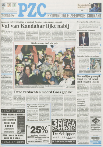 Provinciale Zeeuwse Courant 2001-11-16