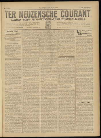Ter Neuzensche Courant. Algemeen Nieuws- en Advertentieblad voor Zeeuwsch-Vlaanderen / Neuzensche Courant ... (idem) / (Algemeen) nieuws en advertentieblad voor Zeeuwsch-Vlaanderen 1932-06-27