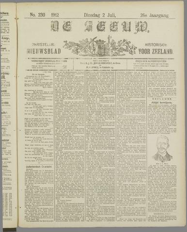 De Zeeuw. Christelijk-historisch nieuwsblad voor Zeeland 1912-07-02