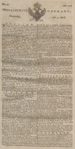 Middelburgsche Courant 1776-04-04