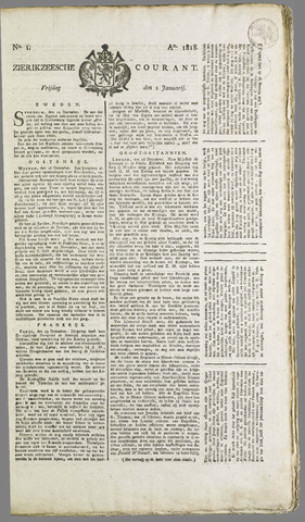 Zierikzeesche Courant 1818