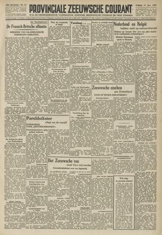 Provinciale Zeeuwse Courant 1947-01-17