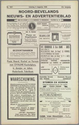 Noord-Bevelands Nieuws- en advertentieblad 1936-08-08