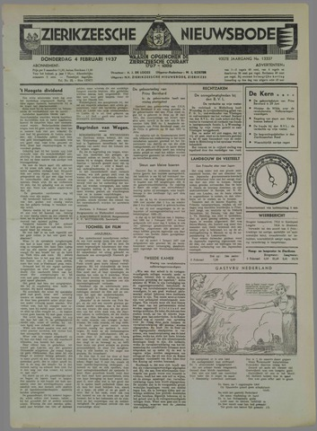 Zierikzeesche Nieuwsbode 1937-02-04