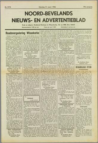 Noord-Bevelands Nieuws- en advertentieblad 1956-03-31