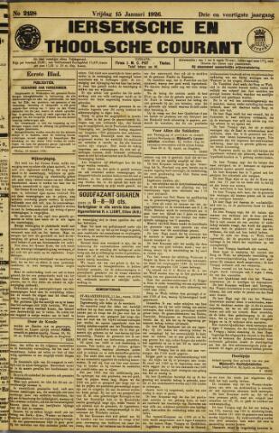 Ierseksche en Thoolsche Courant 1926-01-15