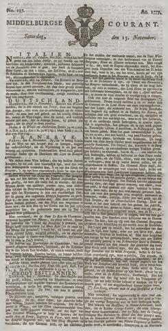 Middelburgsche Courant 1777-11-15